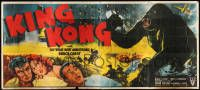 9g002 KING KONG 24sh R52 full-color art of top stars by him on rampage in New York, ultra rare!