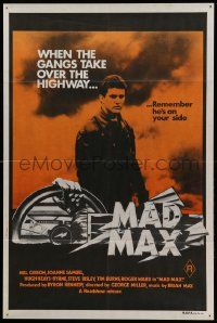 9g266 MAD MAX orange 2nd printing Aust 1sh '79 Mel Gibson, George Miller classic, incredibly rare!