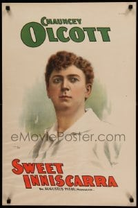 2g037 SWEET INNISCARRA 20x30 stage poster 1897 Falk art of Chancey Olcott, The Irish Comedian!