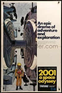 2z436 2001: A SPACE ODYSSEY style C Cinerama centrifuge style 1sh '68 great McCall art, ultra rare!
