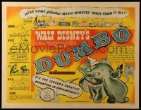 3d095 DUMBO style B 1/2sh '41 Disney circus elephant classic, different art & taglines, ultra rare!