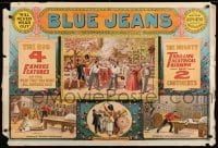 3k191 BLUE JEANS montage style 29x43 stage poster 1890 Joseph Arthur, cool stage play scenes!