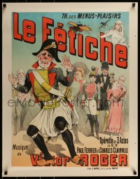 2z044 LE FETICHE 26x33 French stage poster 1890 cool art for Victor Roger's opera production!