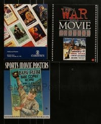 5d035 LOT OF 2 BRUCE HERSHENSON SOFTCOVER MOVIE POSTER BOOKS AND 1 AUCTION CATALOG 1990s-2000s