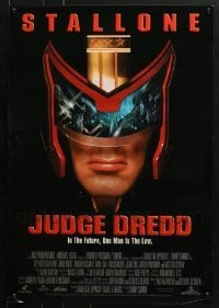 5d009 LOT OF 50 UNFOLDED JUDGE DREDD 18X26 SPECIAL POSTERS 1995 great image of Sylvester Stallone!