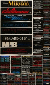 5d007 LOT OF 209 5X25 MYLAR MARQUEES 1990s title images from a variety of different movies!