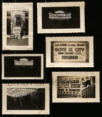 5d016 LOT OF 6 DEAD END KIDS 3X5 THEATER FRONT AND LOBBY DISPLAY PHOTOS 1930s-1940s cool!
