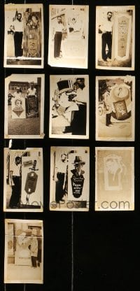 5d018 LOT OF 10 3X5 LOCAL THEATER POSTER PHOTOS 1920s elaborate homemade advertising!