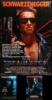 5d003 LOT OF 3 27X40 ARNOLD SCHWARZENEGGER ONE-SHEETS MOUNTED TO FOAMCORE 1980s-1990s Terminator!