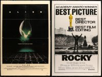 5d002 LOT OF 2 27X41 ONE-SHEETS MOUNTED TO FOAMCORE 1970s Rocky & Alien!
