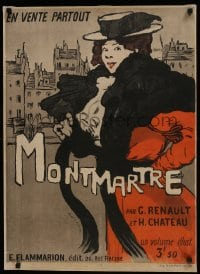 6c302 MONTMARTRE 23x32 French advertising poster 1897 Maxime DeThomas art of fancy woman, rare!