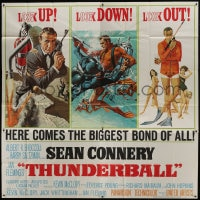 6j121 THUNDERBALL 6sh 1965 art of Sean Connery as James Bond by Robert McGinnis & Frank McCarthy!