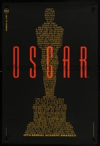 6r007 69TH ANNUAL ACADEMY AWARDS 24x36 1sh 1997 image of Oscar from winning movie titles