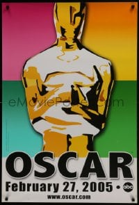 6r010 77th ANNUAL ACADEMY AWARDS DS 1sh 2005 Brett Davidson artwork of the Oscar!