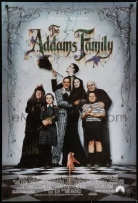 6r017 ADDAMS FAMILY 1sh 1991 Raul Julia, Anjelica Huston, Christina Ricci, Christopher Lloyd!