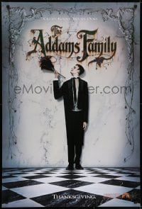 6r018 ADDAMS FAMILY teaser 1sh 1991 Carel Struycken as Lurch, creepy, kooky, spooky, ooky!