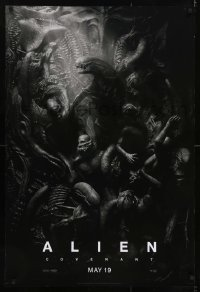 6r023 ALIEN COVENANT style C teaser DS 1sh 2017 Ridley Scott, Fassbender, incredible sci-fi image!