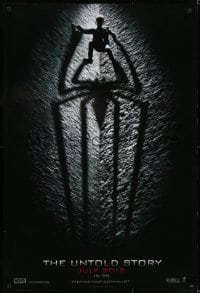 6r029 AMAZING SPIDER-MAN int'l teaser DS 1sh 2012 shadowy image of Andrew Garfield climbing wall!
