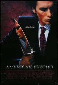 6r033 AMERICAN PSYCHO 1sh 2000 psychotic yuppie killer Christian Bale, from Ellis novel!