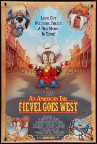 6r035 AMERICAN TAIL: FIEVEL GOES WEST advance DS 1sh 1991 animated western, there's a new mouse in town!