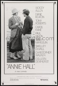 6r037 ANNIE HALL revised 1sh 1977 full-length Woody Allen & Diane Keaton, a new comedy!
