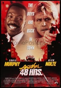 6r038 ANOTHER 48 HRS int'l DS 1sh 1990 ex-con Eddie Murphy & cop Nick Nolte are back in town!