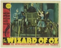 8r209 WIZARD OF OZ LC 1939 Judy Garland, Ray Bolger, Bert Lahr & Haley by Frank Morgan in balloon!