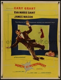 8s142 NORTH BY NORTHWEST 30x40 1959 Alfred Hitchcock, Cary Grant & Eva Marie Saint, ultra rare!