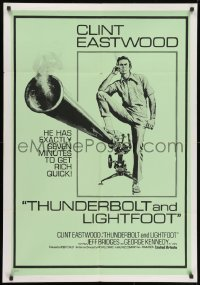 1t006 THUNDERBOLT & LIGHTFOOT South African 1974 McGinnis artwork of Clint Eastwood with HUGE gun!