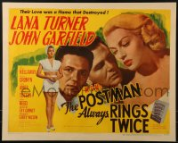 2m061 POSTMAN ALWAYS RINGS TWICE style B 1/2sh 1946 John Garfield & sexy Lana Turner, ultra rare!