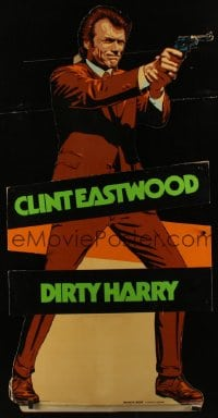 2m091 DIRTY HARRY die-cut standee 1971 great life-size Clint Eastwood pointing gun!