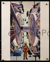 2m076 2001: A SPACE ODYSSEY group of 15 color 16x20 stills 1968 Stanley Kubrick, Bob McCall art!