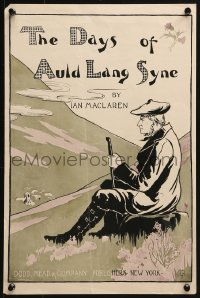 2w303 DAYS OF AULD LANG SYNE 12x18 advertising poster 1895 Scottish farmer overlooking a valley!
