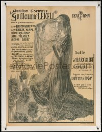 4j199 AUDITION D'OEUVRES DE GUILLAUME LEKEU linen 31x42 French music poster 1894 Carlos Schwabe art!