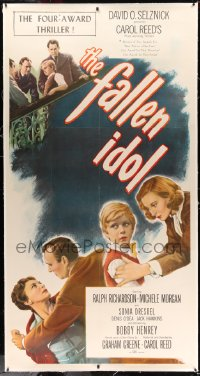 2a033 FALLEN IDOL linen 3sh 1949 Ralph Richardson, Henrey, directed by Carol Reed, by Graham Greene!
