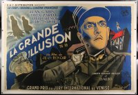 2a075 GRAND ILLUSION linen French 2p 1937 Jean Renoir anti-war classic, Brodsky art, ultra rare!