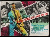2a050 DR. NO linen German 33x47 1963 different art of Connery as James Bond + photos, ultra rare!