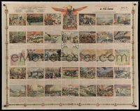2a131 LA GUERRE EUROPEENNE linen 35x45 French special poster 1915 art of World War I events, rare!