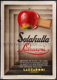 2a109 LAZZARONI linen 39x55 Italian advertising poster 1933 cool deco art for their fruit biscotti!
