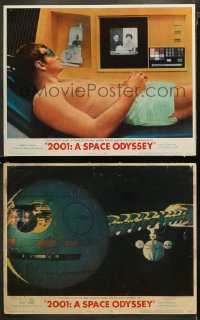 3g0671 2001: A SPACE ODYSSEY 2 LCs 1968 Lockwood receives birthday greetings, great space ship image!