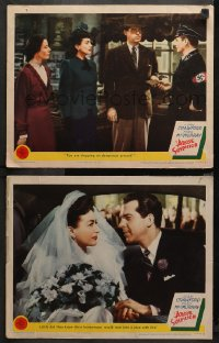 3g0672 ABOVE SUSPICION 2 LCs 1943 Joan Crawford, Fred MacMurray, it happened on a honeymoon!