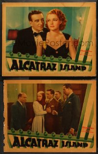3g0675 ALCATRAZ ISLAND 2 LCs 1937 great images of Ann Sheridan, John Litel, most famous prison!