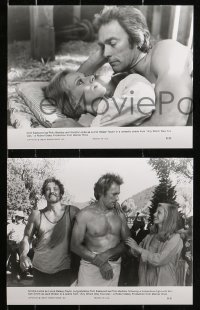 3g1012 ANY WHICH WAY YOU CAN 6 from 6.25x9.75 to 7.25x10 stills 1980 Clint Eastwood & Clyde the orangutan!