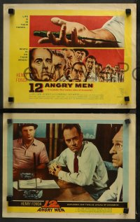 3g0042 12 ANGRY MEN 8 LCs 1957 Henry Fonda, Sidney Lumet classic, great images of key scenes!