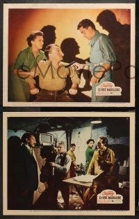 3g0593 13 RUE MADELEINE 3 LCs 1946 James Cagney helps Sam Jaffe & French Resistance in World War II!