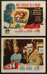 3g0043 1984 8 LCs 1956 Edmond O'Brien, Jan Sterling & Michael Redgrave, George Orwell classic!