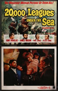 3g0024 20,000 LEAGUES UNDER THE SEA 9 LCs R1963 Jules Verne classic, James Mason, Kirk Douglas!