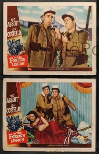 3g0483 ABBOTT & COSTELLO IN THE FOREIGN LEGION 5 LCs 1950 Bud & Lou w/harem girl Patricia Medina!