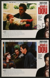 3g0048 ABOUT A BOY 8 LCs 2002 Hugh Grant, Toni Collette, growing up has nothing to do with age!