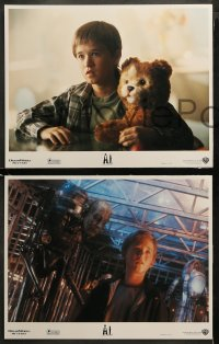 3g0047 A.I. ARTIFICIAL INTELLIGENCE 8 LCs 2001 Steven Spielberg, Haley Joel Osment, Jude Law, Teddy!